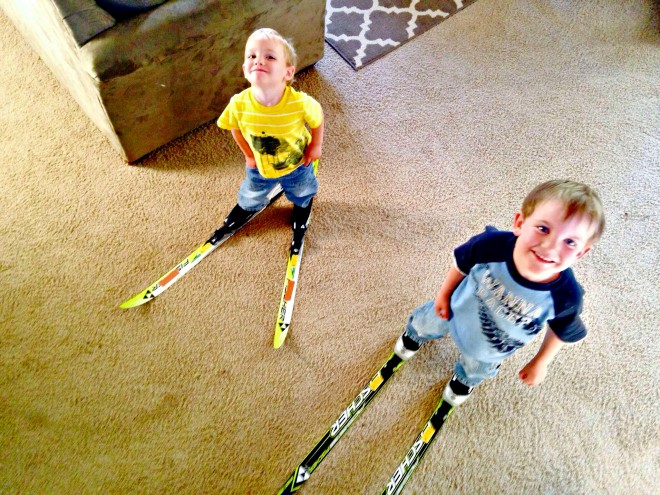 Teaching Toddlers to Cross Country Ski