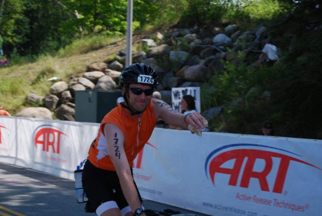 Dave bike Lake Placid