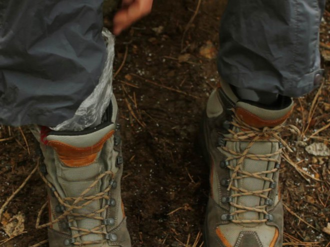Backpacker foot care