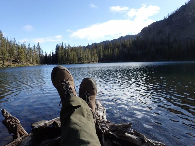 backpacking alpine lake