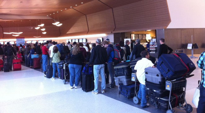 airport and TSA line