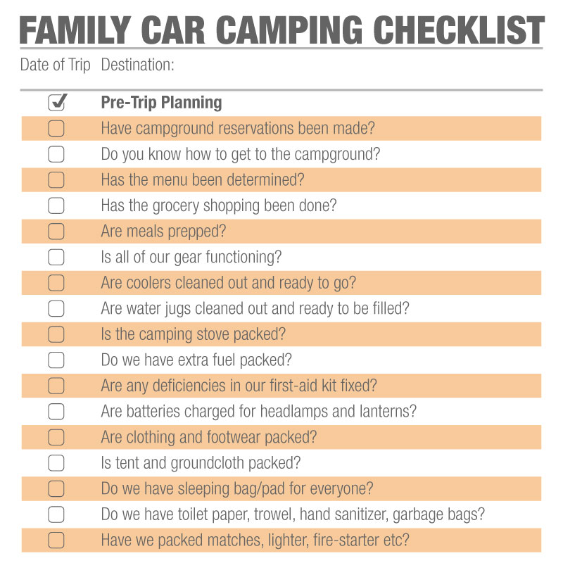 Family Camping Checklist How To Plan The Perfect Trip