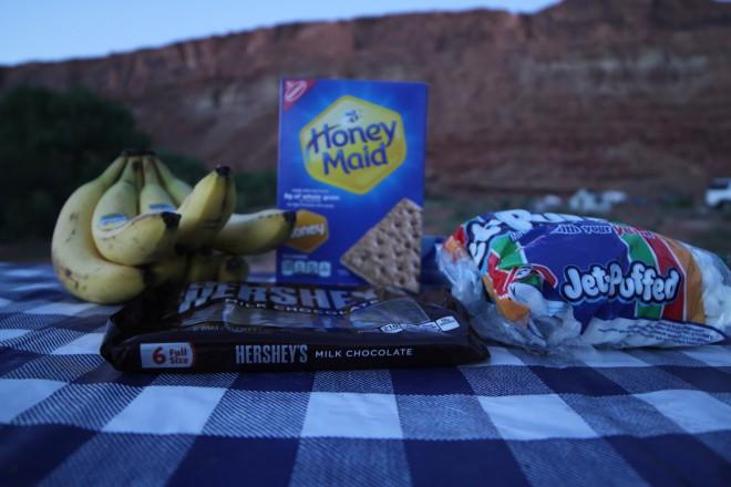Banana Boat camping dessert Ingredients