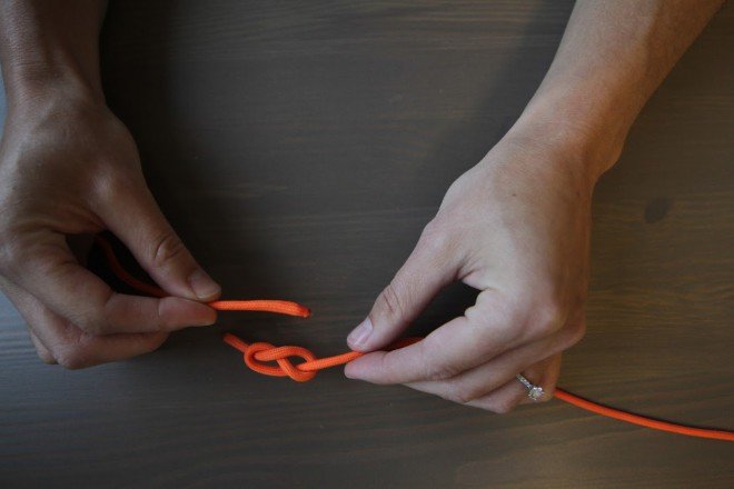 1b730f997a Once both ends of the paracord have been fed through the figure 8 knots