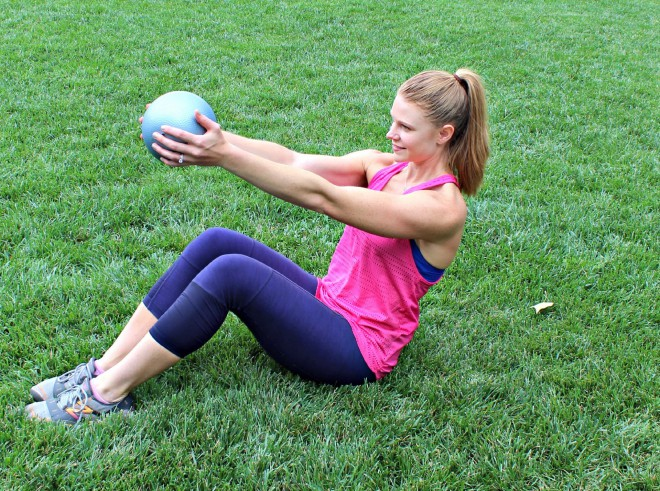 backpacking exercises medicine ball