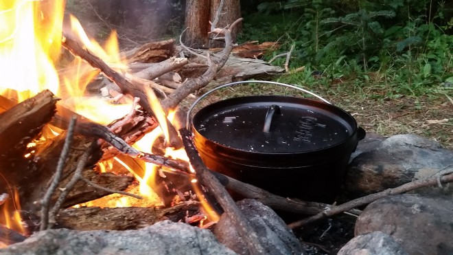 Fall Camping Dutch Oven