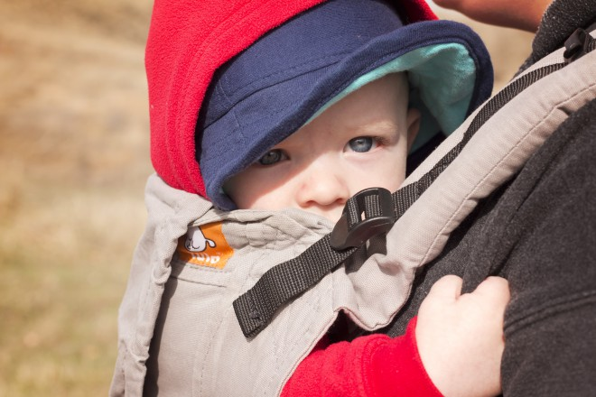 dressing small children for cold hikes