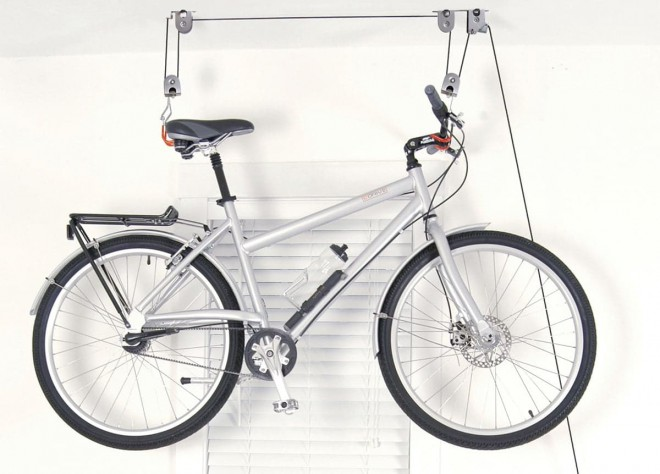 fall shopping bicycle hanger