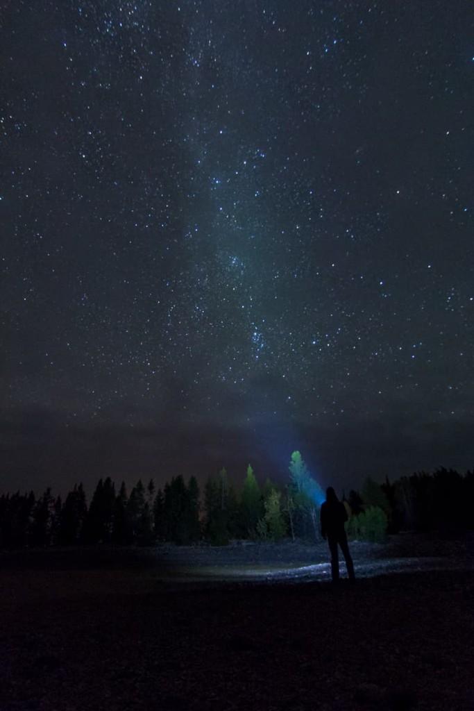 National parks at night Grand Teton
