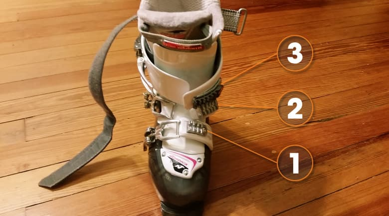 how to buckle ski boots