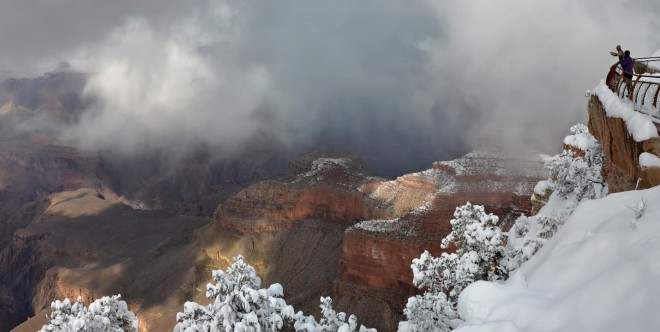 exploring national parks in winter