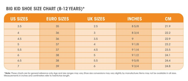 Female Male Shoe Size Conversion
