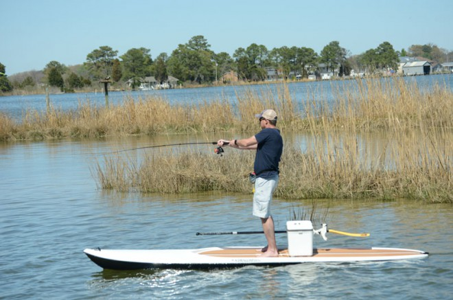 stand-up paddle board fishing