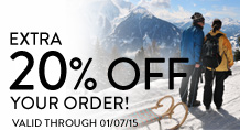Extra 20% off your order!