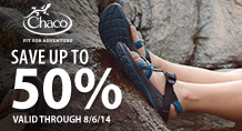 Up to 50% on Chaco!