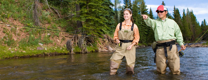 fly fishing store: