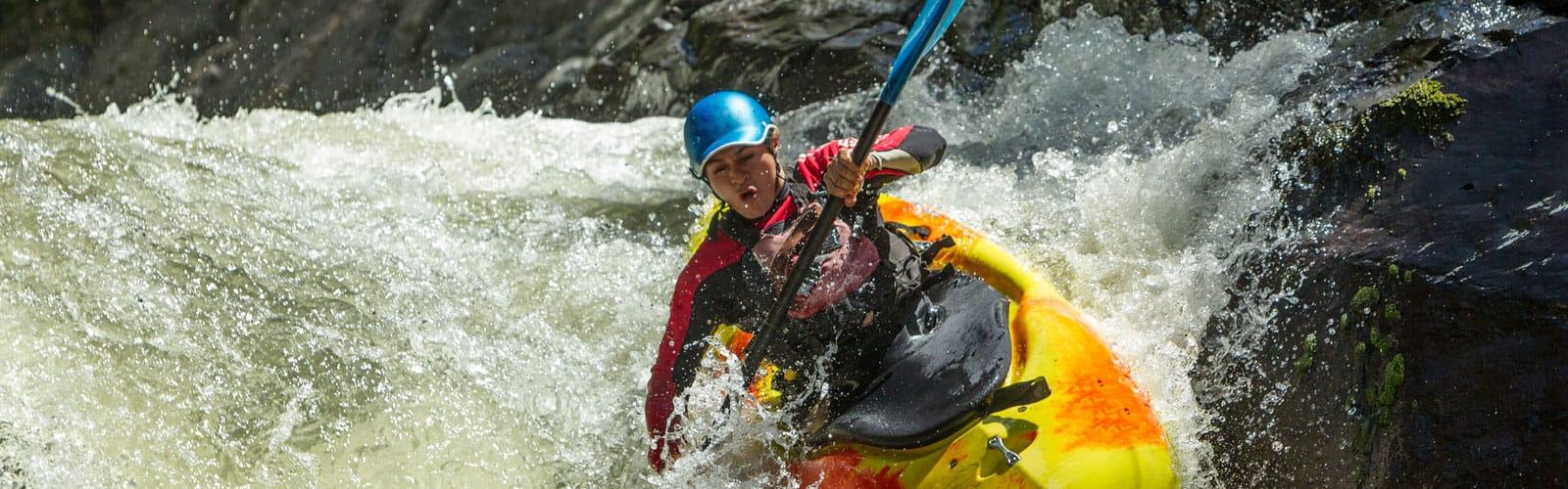 Kayak Jacket and Helmet