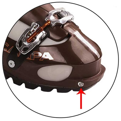Tech-Compatible Ski Boots Diagram