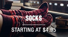 Socks - starting at $4.95