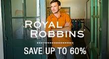 Royal Robbins - save up to 60%