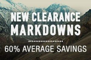 New Clearance Markdowns - average savings 60%