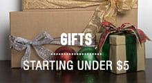 Gifts - starting at $5