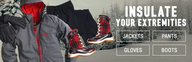 Insulated: jackets,boots, gloves, pants