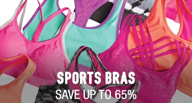 Sports Bras - save up to 65%