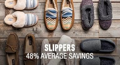 Slippers - 48% average savings