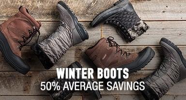 Winter Boots - 50% average savings