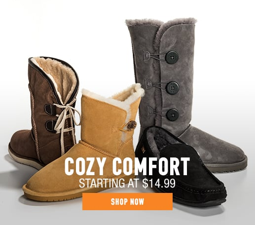 Sheepskin Boots & Moccassins - starting at $14.99