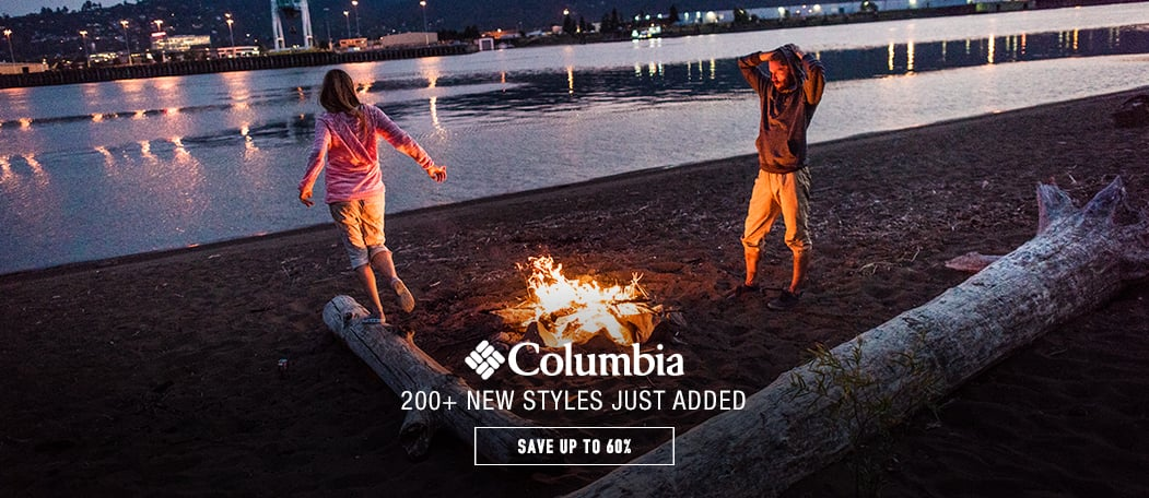 Columbia Sportswear - save up to 65% - 200+ new styles