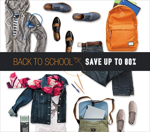 Back to School - save up to 80%
