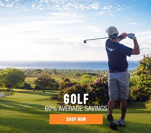 Golf - 60% average savings