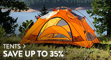 Tents - save up to 35%