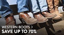 Western Boots - save up to 70%