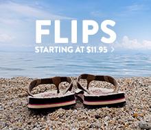 Flip Flops - starting at $11.95