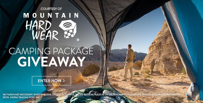 Mountain Hardwear Camping Giveaway
