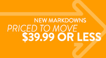 New Markdowns - $39.99 or less