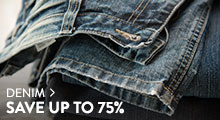 Denim - save up to 75%
