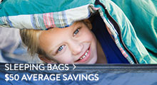 Sleeping Bags - average savings $50