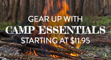Camp Essentials - starting at $11.95