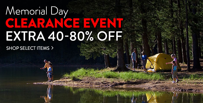 Memorial Day Clearance Event: extra 40-80% off select items