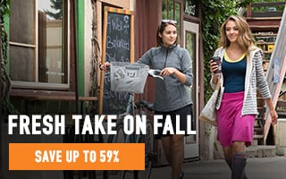 Fresh Take on Fall -All-Weather Layering and Luxe Fabrics - 59% average savings