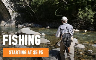 Fishing Rods, Reels, Waders & Gear - starting at $5.95