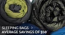 Sleeping Bags - average savings $50