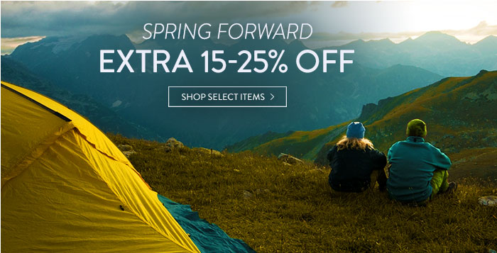 Spring Forward: extra 15-25% off select items