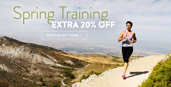 Spring Training: extra 20% off select items