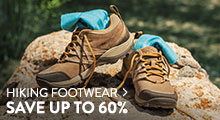 Hiking Shoes & Boots - save up to 60%