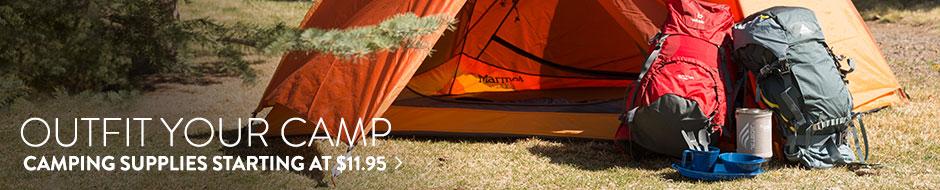Camping Supplies - starting at $11.95